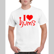 I Love BUMS (red) - Gildan Heavy Cotton White T Shirt