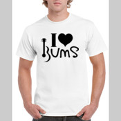 I Love BUMS (black) - Gildan Heavy Cotton White T Shirt