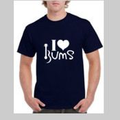 I Love BUMS (white) - Gildan Heavy Cotton Crew Tee